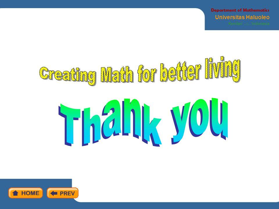 Creating Math for better living