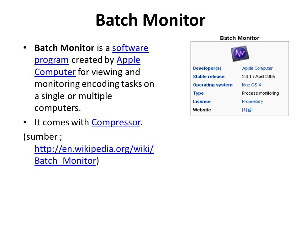 Batch Monitor