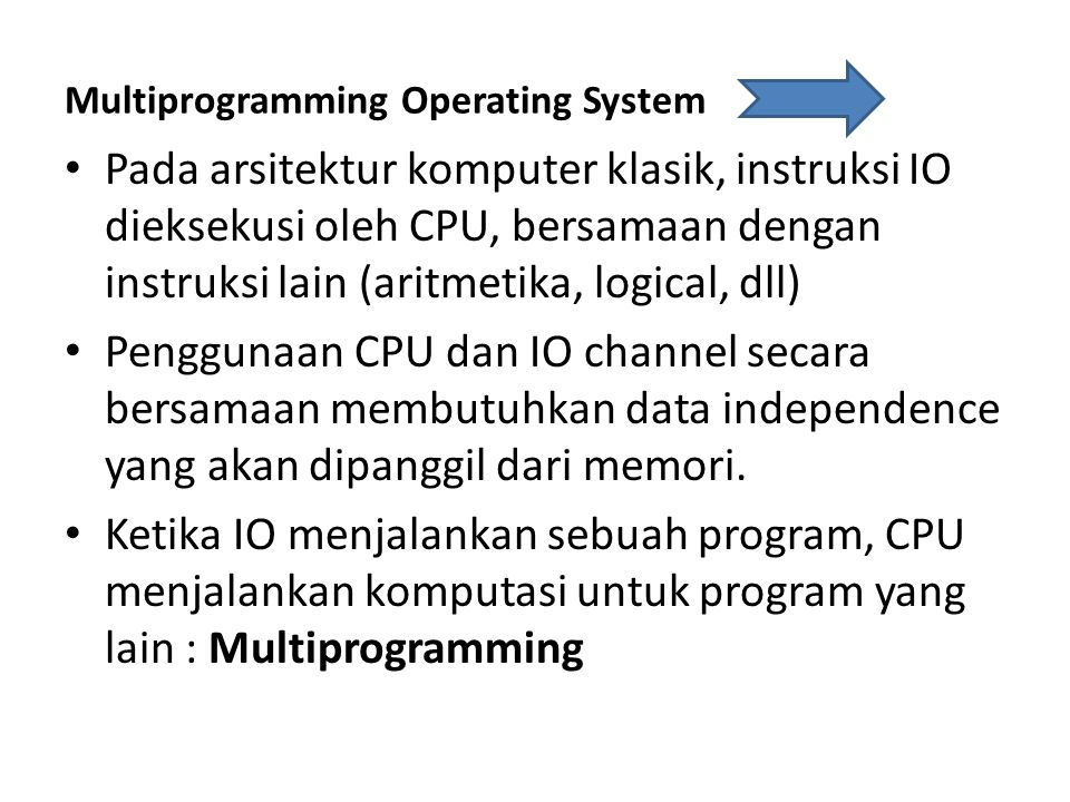 Multiprogramming Operating System