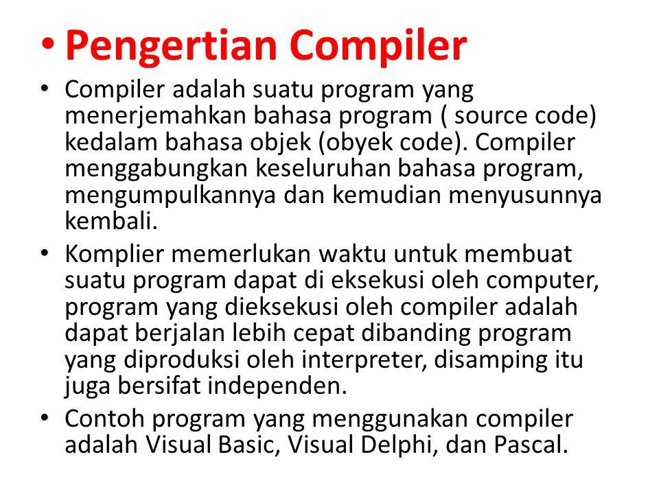 Pengertian Compiler