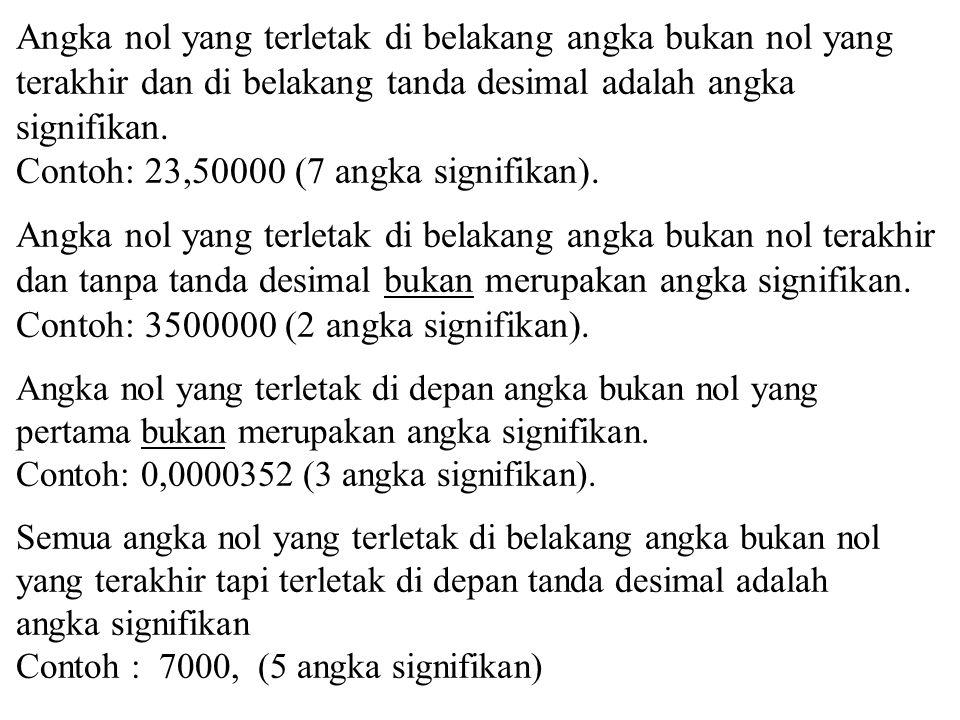 Contoh: 23,50000 (7 angka signifikan).