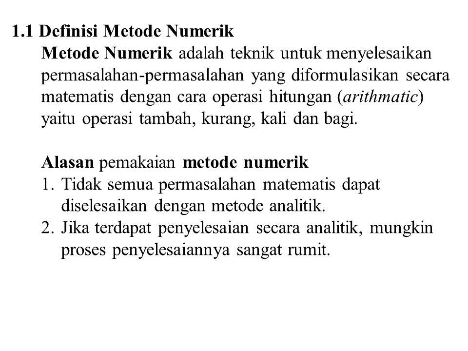 1.1 Definisi Metode Numerik