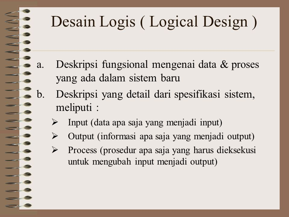 Desain Logis ( Logical Design )