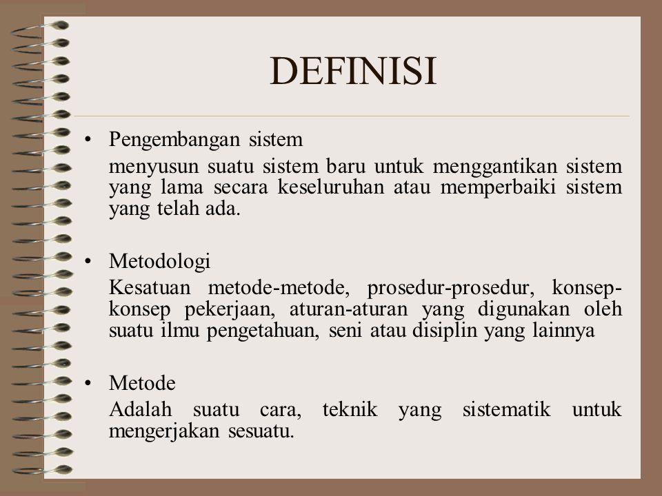 DEFINISI Pengembangan sistem