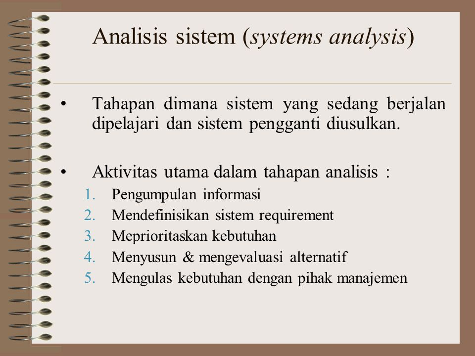 Analisis sistem (systems analysis)
