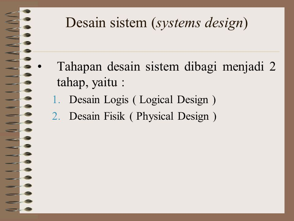 Desain sistem (systems design)