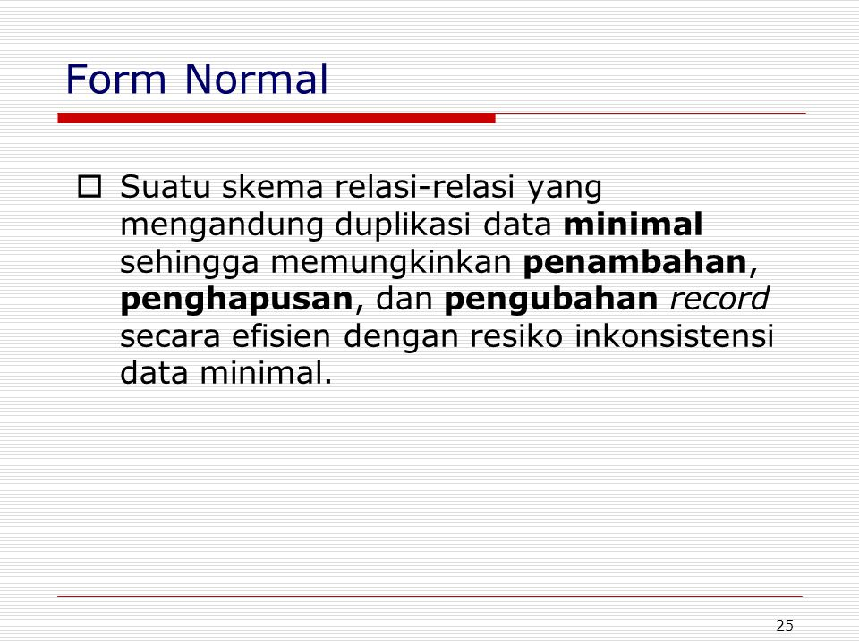 Form Normal