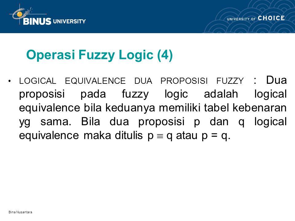 Operasi Fuzzy Logic (4)