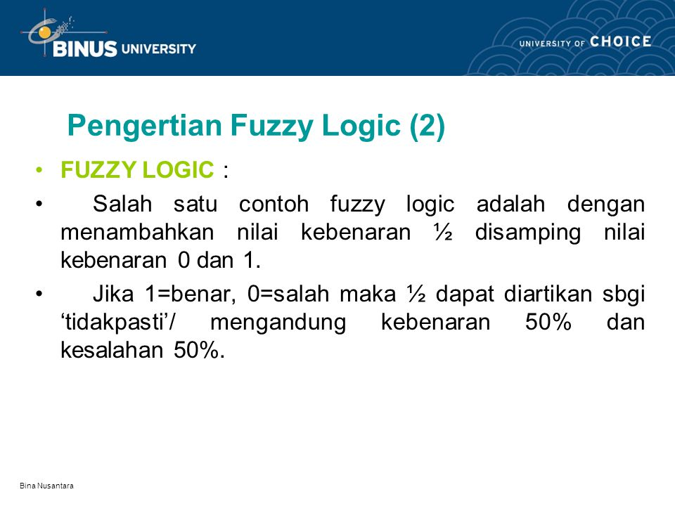 Pengertian Fuzzy Logic (2)