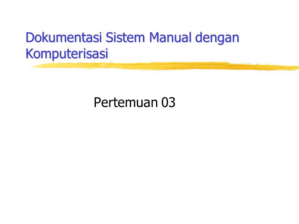Dokumentasi Sistem Manual dengan Komputerisasi