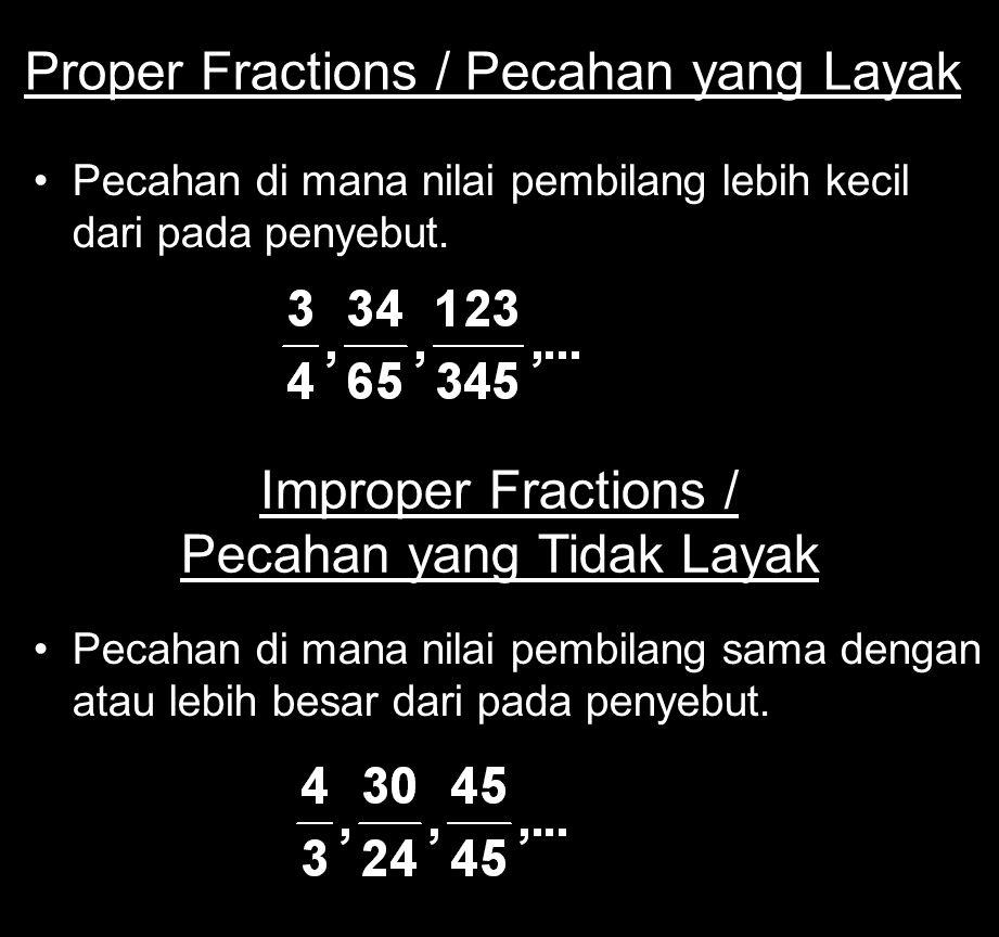 Proper Fractions / Pecahan yang Layak