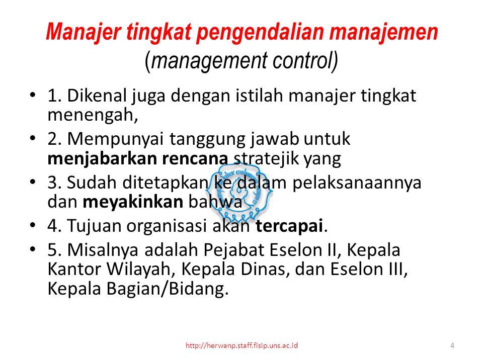 Manajer tingkat pengendalian manajemen (management control)