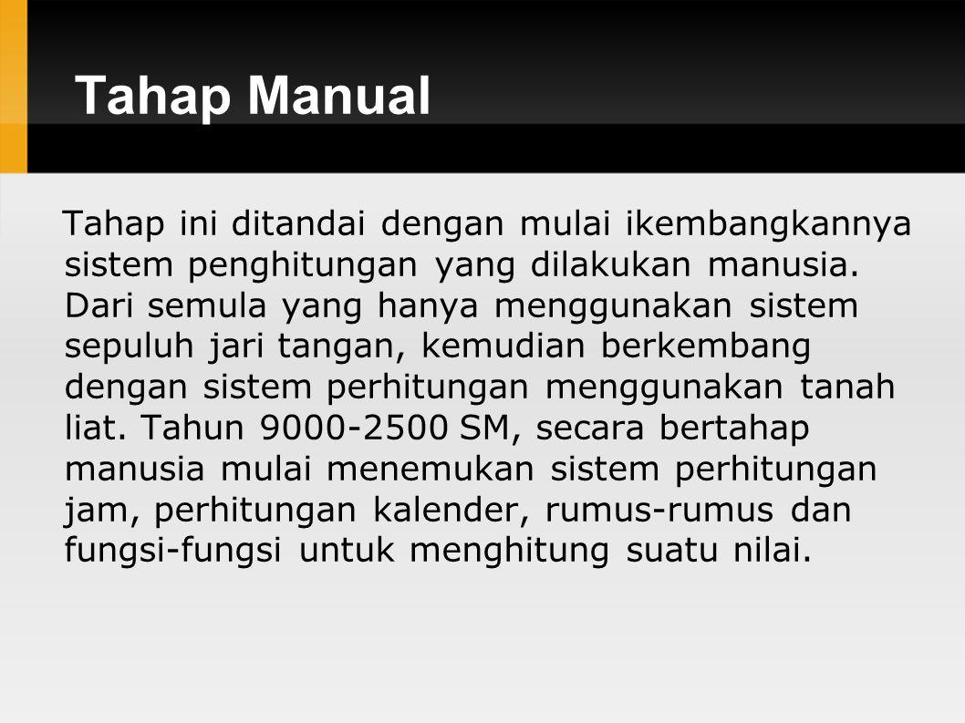Tahap Manual