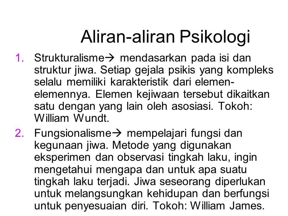 Aliran-aliran Psikologi