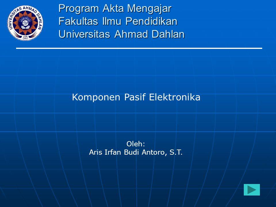 Aris Irfan Budi Antoro, S.T.