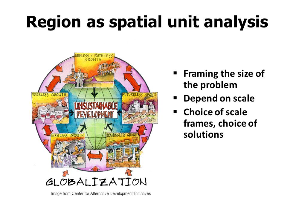 Region as spatial unit analysis