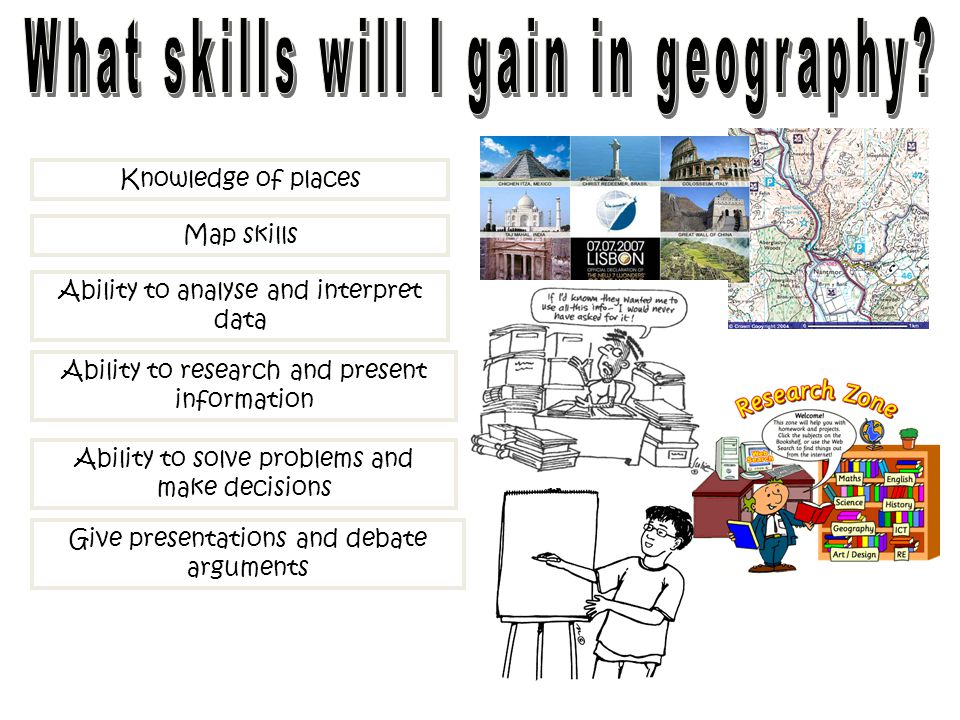 What skills will I gain in geography