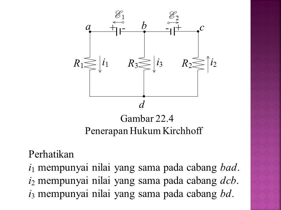 i1 mempunyai nilai yang sama pada cabang bad.