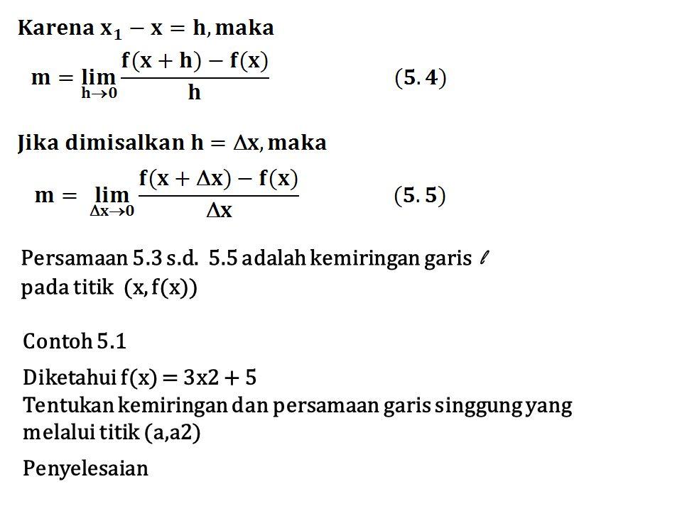 Persamaan 5.3 s.d. 5.5 adalah kemiringan garis l