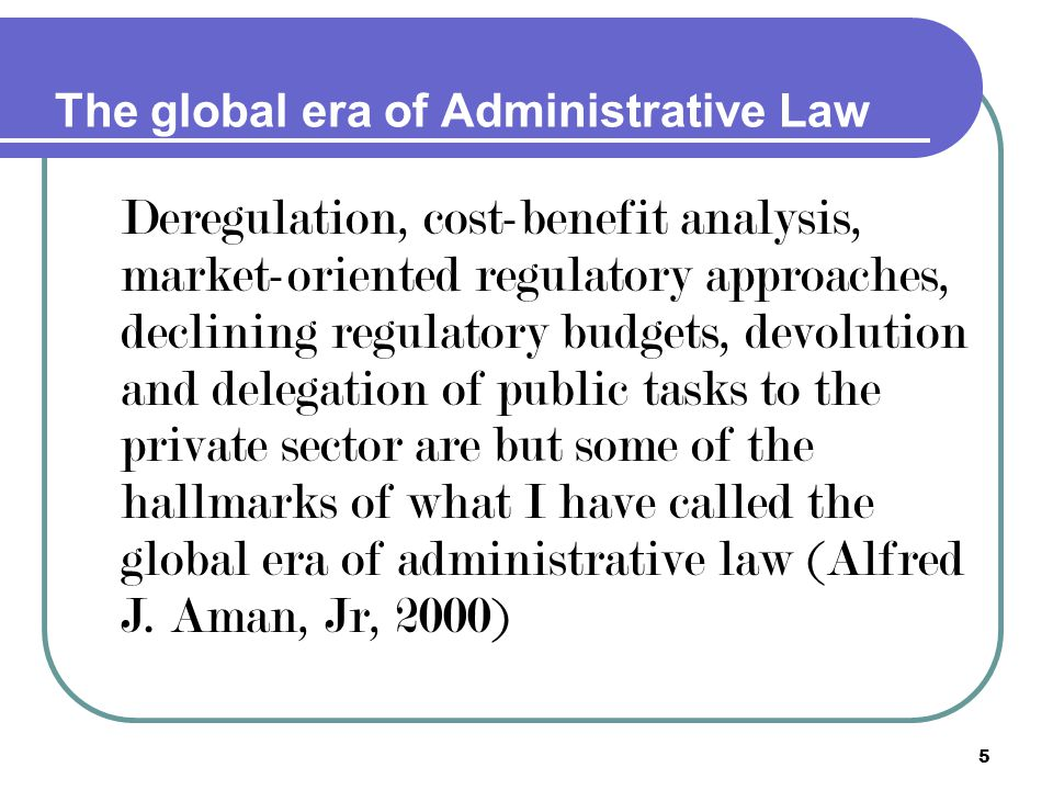The global era of Administrative Law