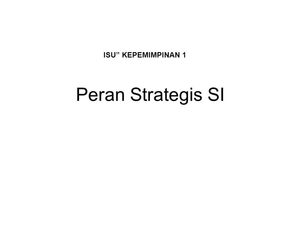 ISU KEPEMIMPINAN 1 Peran Strategis SI