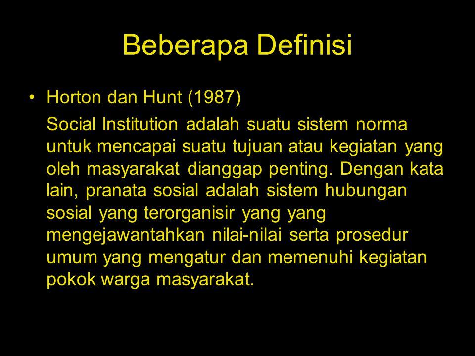Beberapa Definisi Horton dan Hunt (1987)