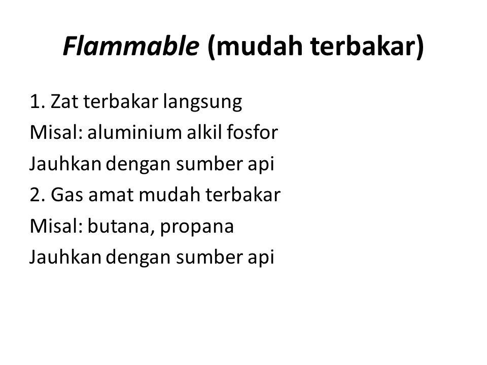 Flammable (mudah terbakar)