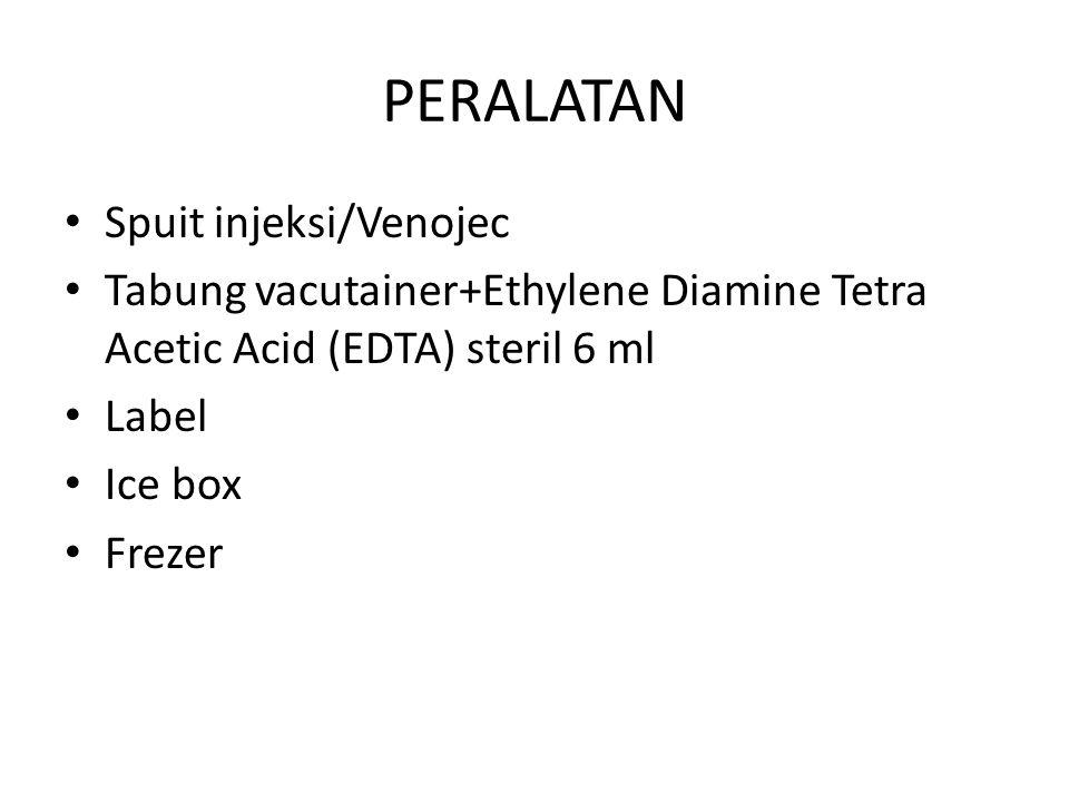 PERALATAN Spuit injeksi/Venojec