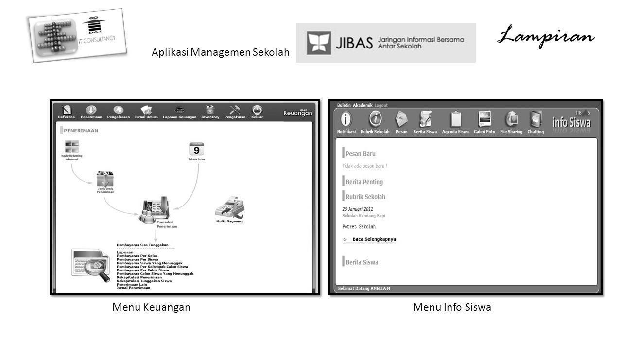 Lampiran Aplikasi Managemen Sekolah Menu Keuangan Menu Info Siswa