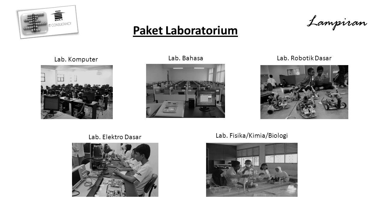 Lampiran Paket Laboratorium Lab. Komputer Lab. Bahasa