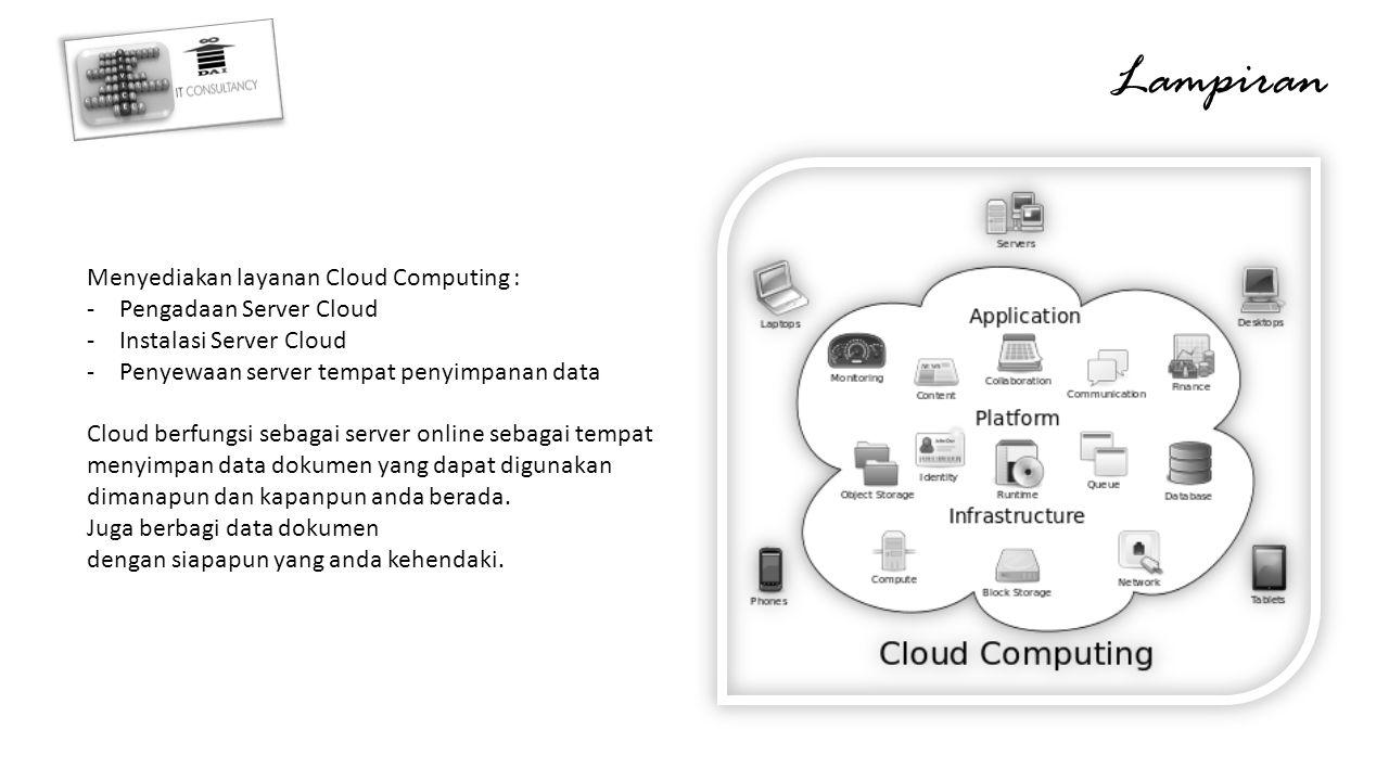 Lampiran Menyediakan layanan Cloud Computing : Pengadaan Server Cloud