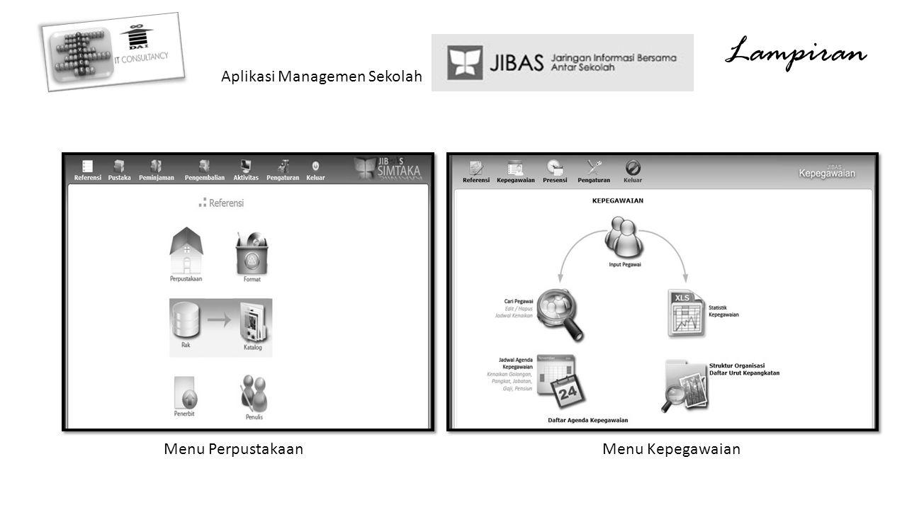 Lampiran Aplikasi Managemen Sekolah Menu Perpustakaan Menu Kepegawaian