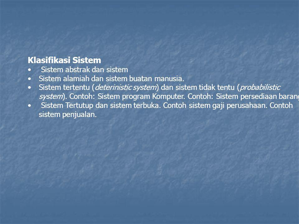 Klasifikasi Sistem Sistem abstrak dan sistem