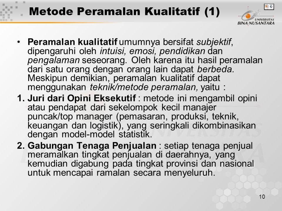 Metode Peramalan Kualitatif (1)