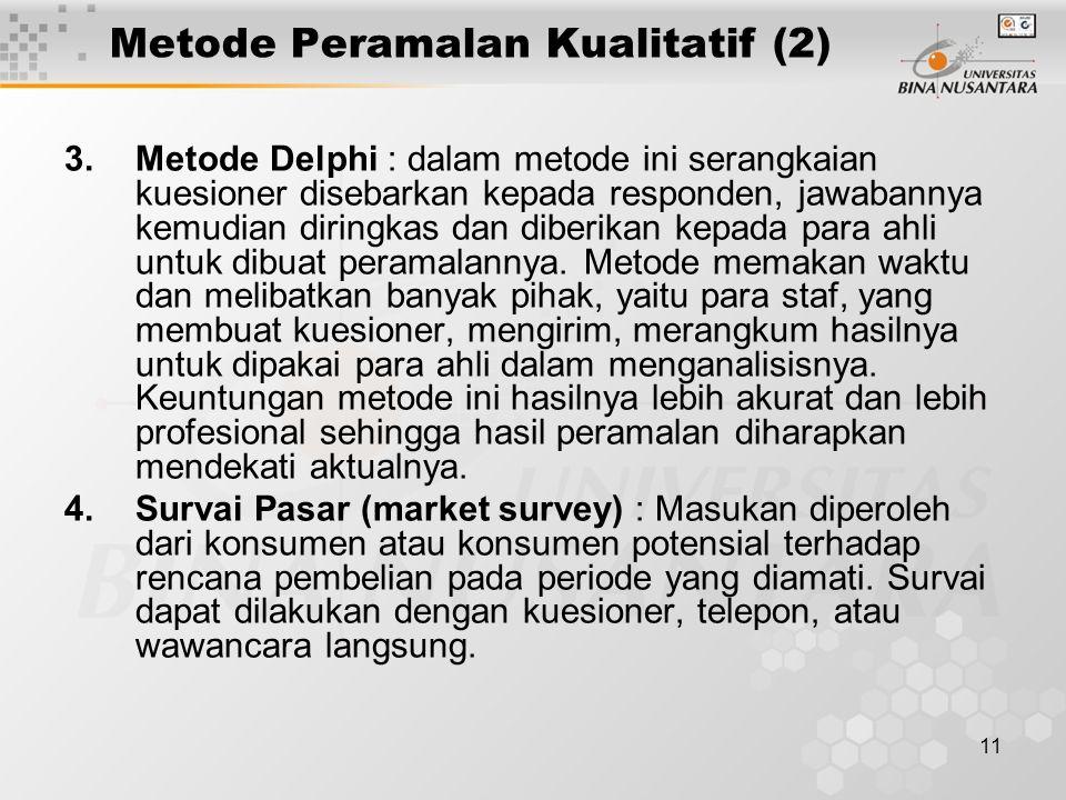 Metode Peramalan Kualitatif (2)