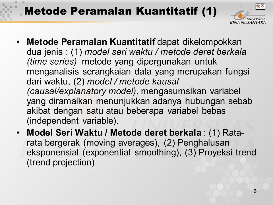 Metode Peramalan Kuantitatif (1)