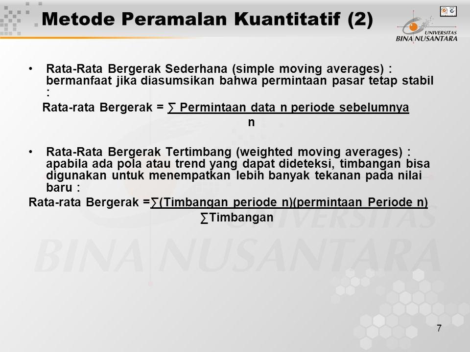 Metode Peramalan Kuantitatif (2)