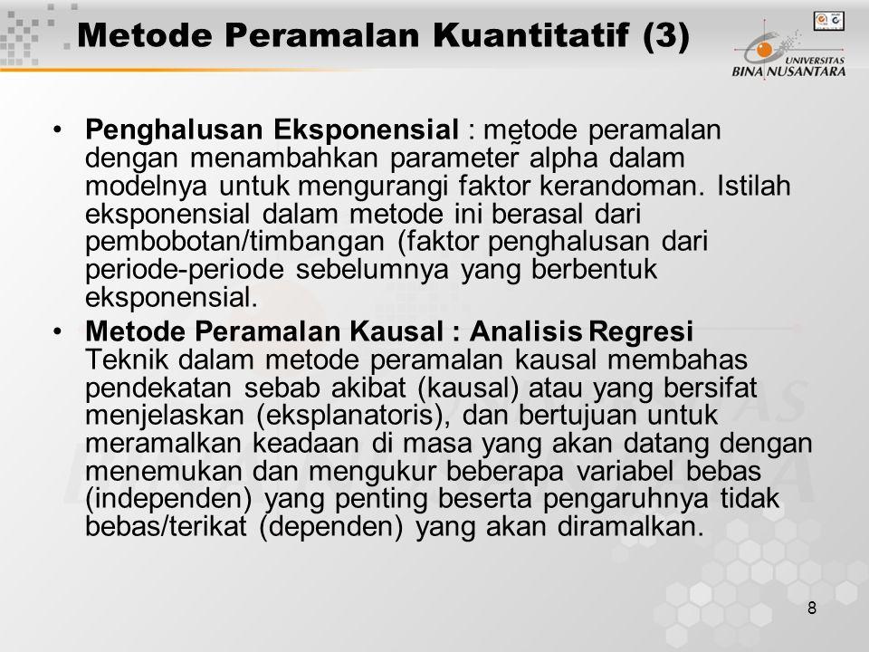 Metode Peramalan Kuantitatif (3)