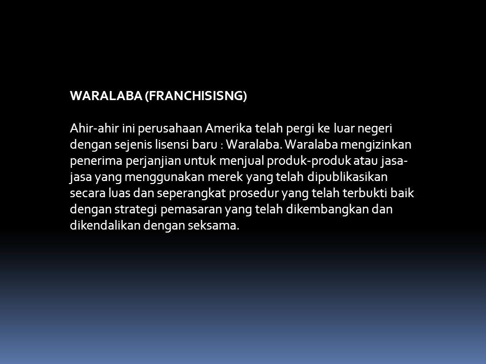 WARALABA (FRANCHISISNG)
