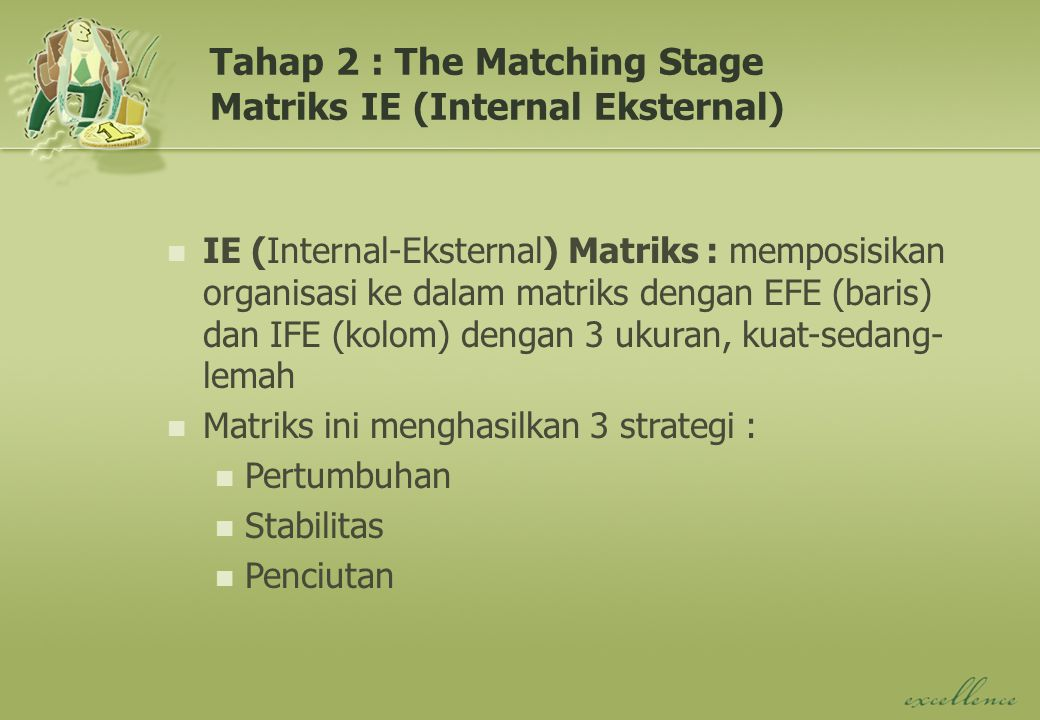 Tahap 2 : The Matching Stage Matriks IE (Internal Eksternal)