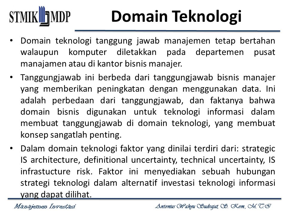 Domain Teknologi