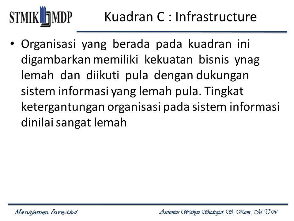Kuadran C : Infrastructure