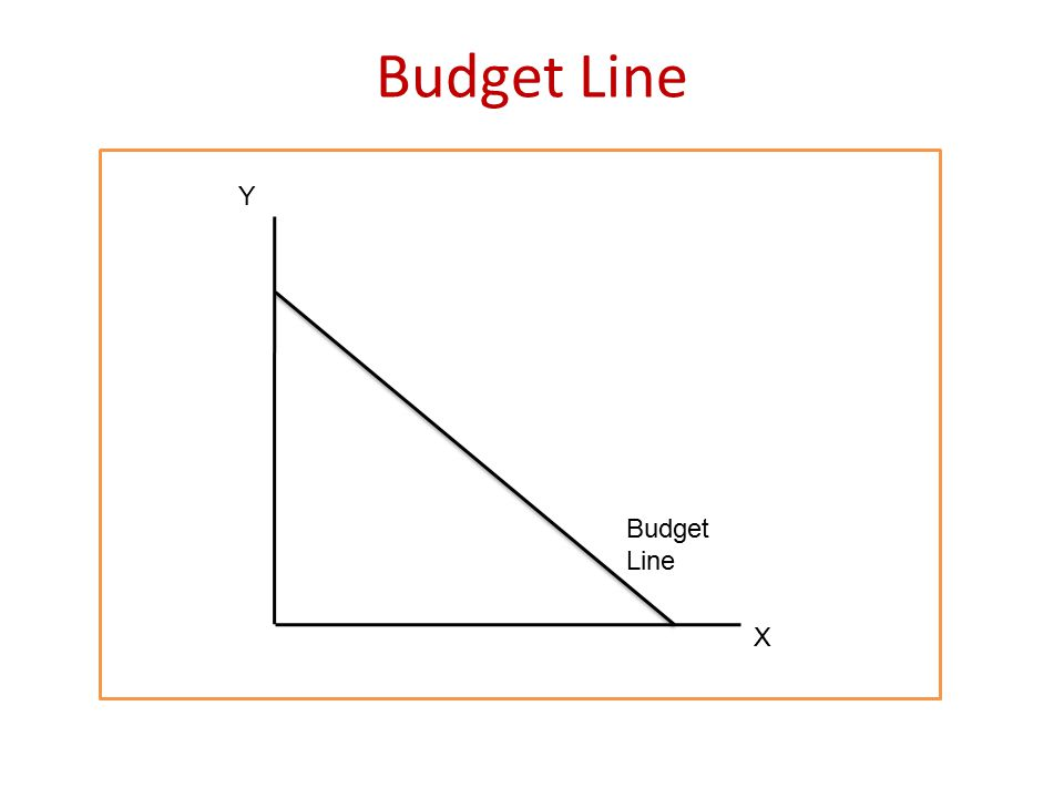 Budget Line Y Budget Line X