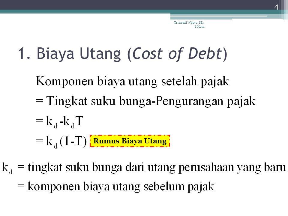 1. Biaya Utang (Cost of Debt)