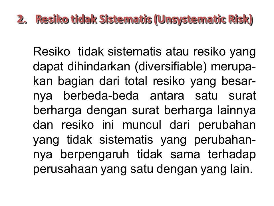 Resiko tidak Sistematis (Unsystematic Risk)