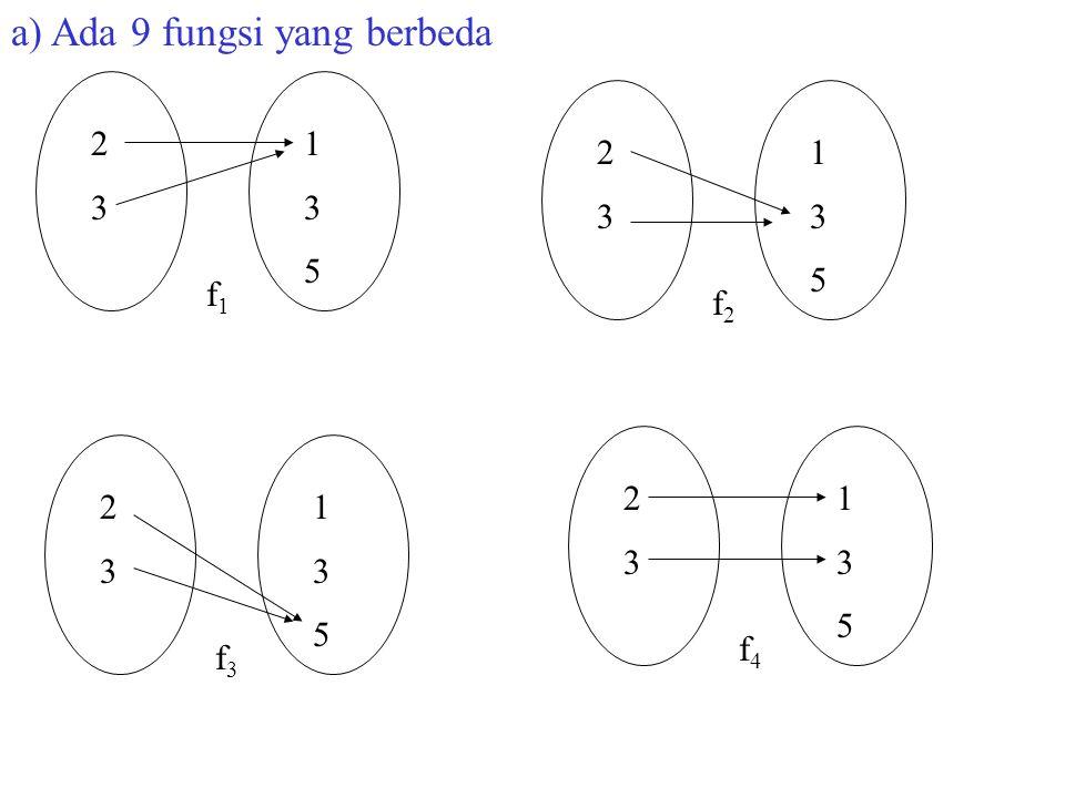 a) Ada 9 fungsi yang berbeda
