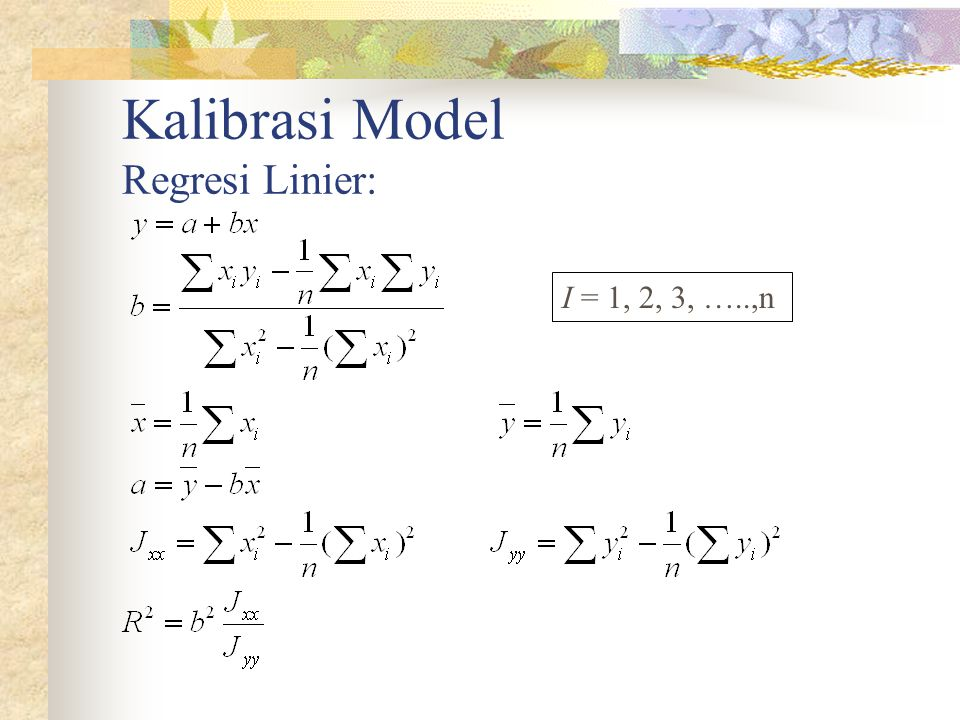 Kalibrasi Model Regresi Linier: