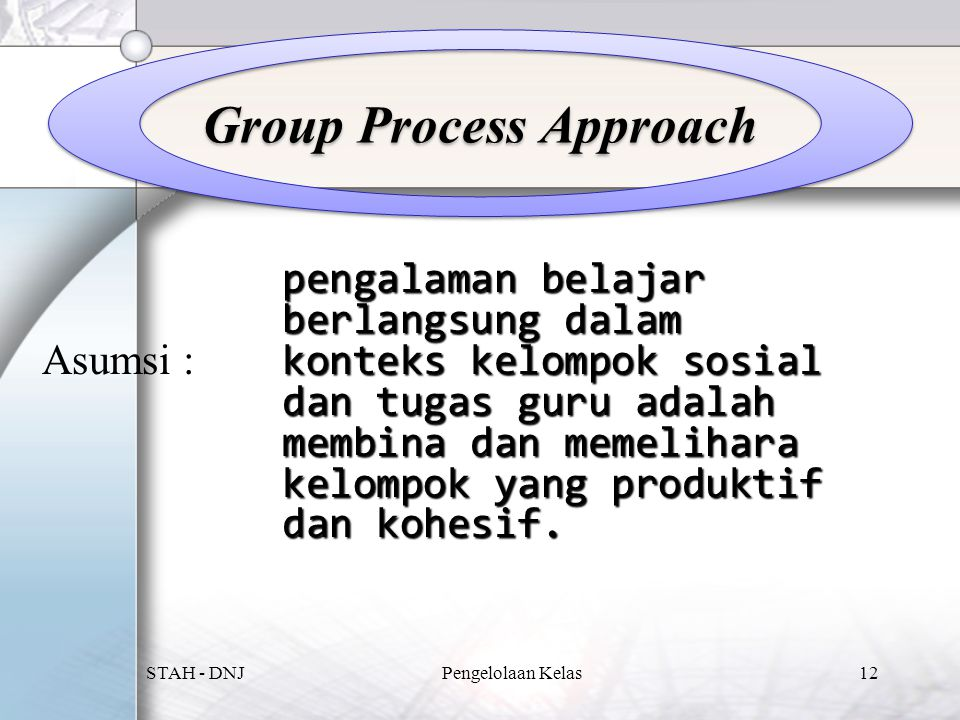 Group Process Approach