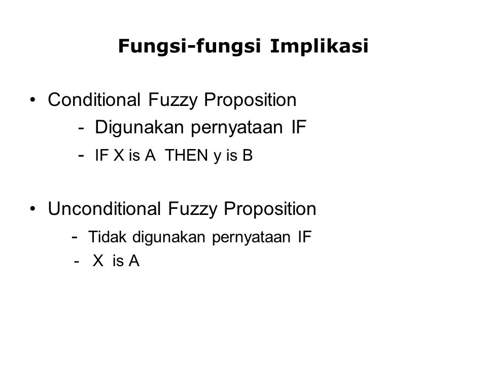 Fungsi-fungsi Implikasi