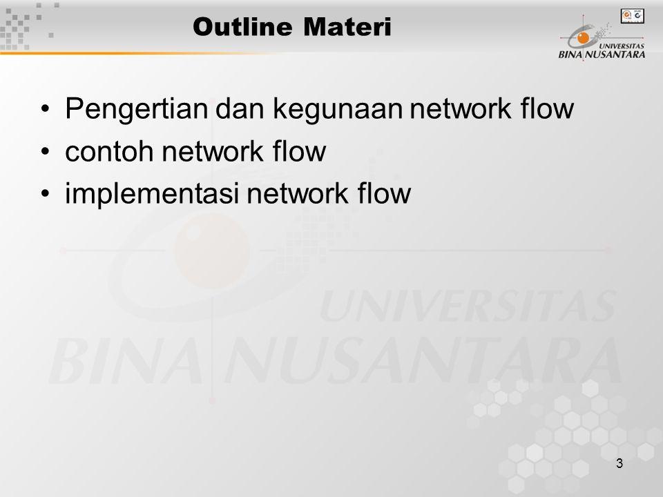 Pengertian dan kegunaan network flow contoh network flow